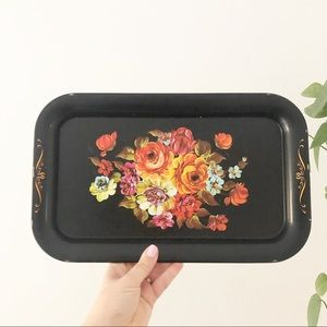 Woolworth Tin Floral Tray Boho Eclectic Decor
